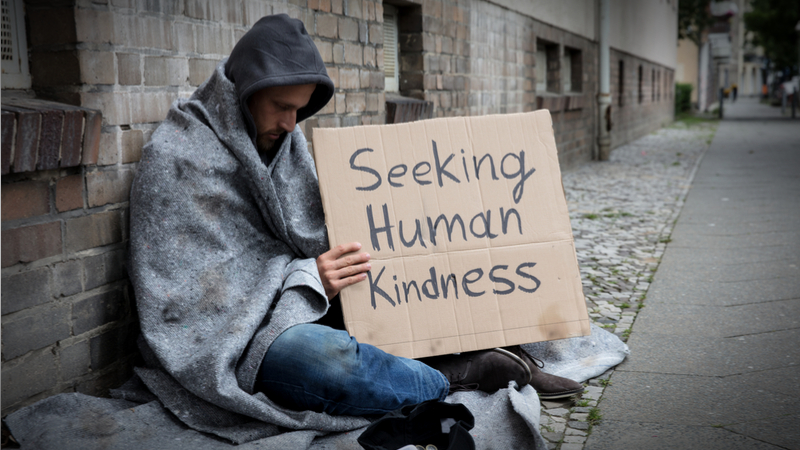 helping the homeless is an art giving compass